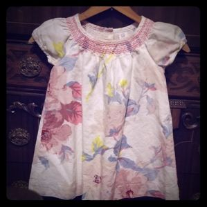 Baby GAP Smocked Floral Dress Size 2T